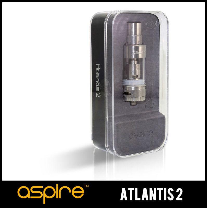 100% Original Aspire Atlantis 2.0 tanque Sub ohm 0.3 ohm atomizador mecânico vapor enorme melhor sabor