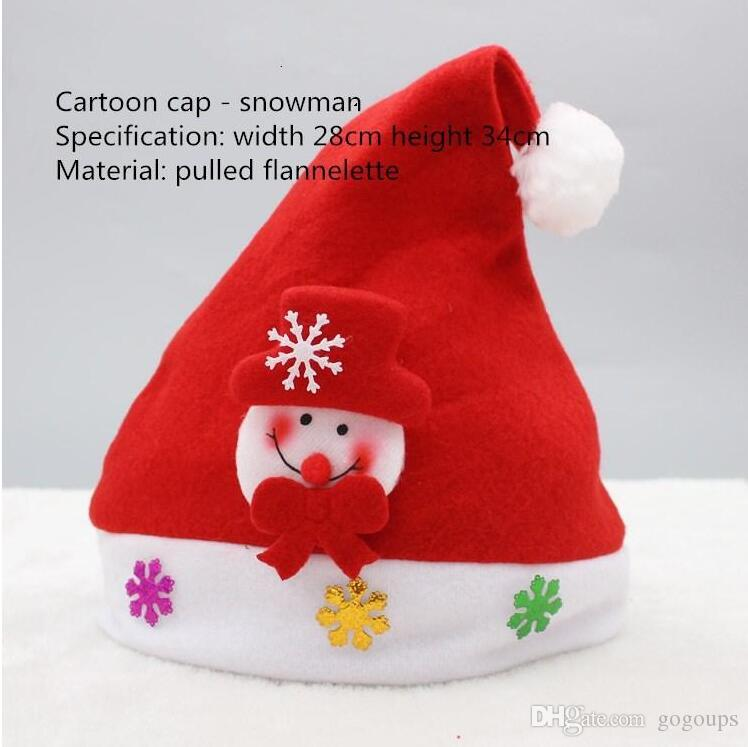 f18ffa6d4c1 new christmas 11 kinds of style cosplay hats thick ultra soft plush santa  claus hat 2433cm