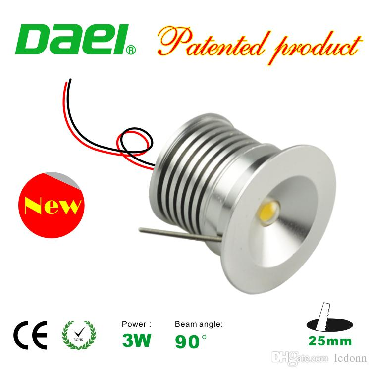LED Downlight Bridgelux Chip Waterproof IP65 IIsolation Driver Dimmable LED Cabinet Light 3W Mini Lamp 25mm 6pcs/set New Design
