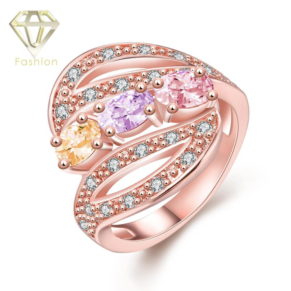 2018 Design Your Own Engagement Ring Rose Gold Plated With Colorful ...