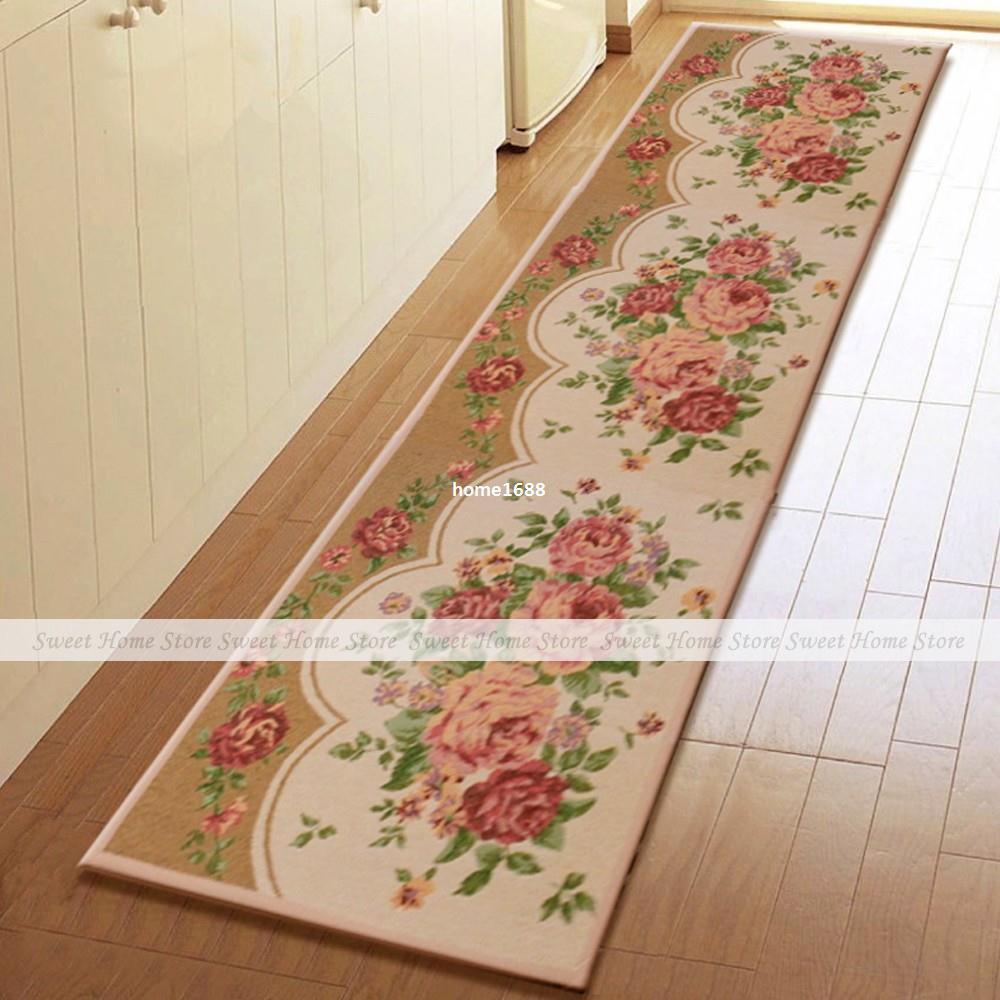 Yevita Peony Blossom Extra Long Kitchen Runner Rug Home Floor Door Mat 235x45cm Remnant Carpet From Home1688 43 41 Dhgate Com