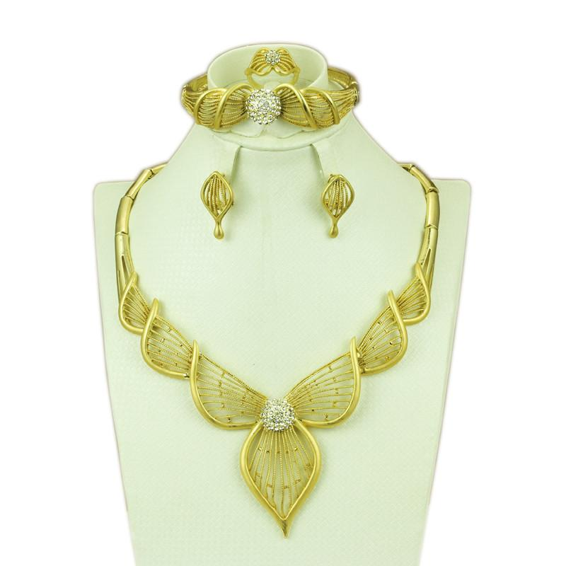 2018 2015 Beautiful Bow Design Fashion 18k Gold Plated Jewelry ...