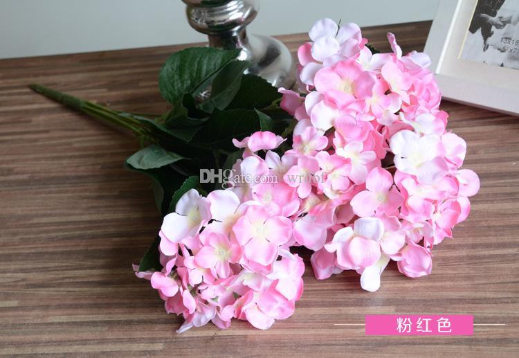 8 Stücke 51 cm Seide Hortensienblüten Bund Gefälschte Blumen Hortensien Sieben Köpfe für Hochzeit Home Künstliche Dekorative Blumen Mittelstücke