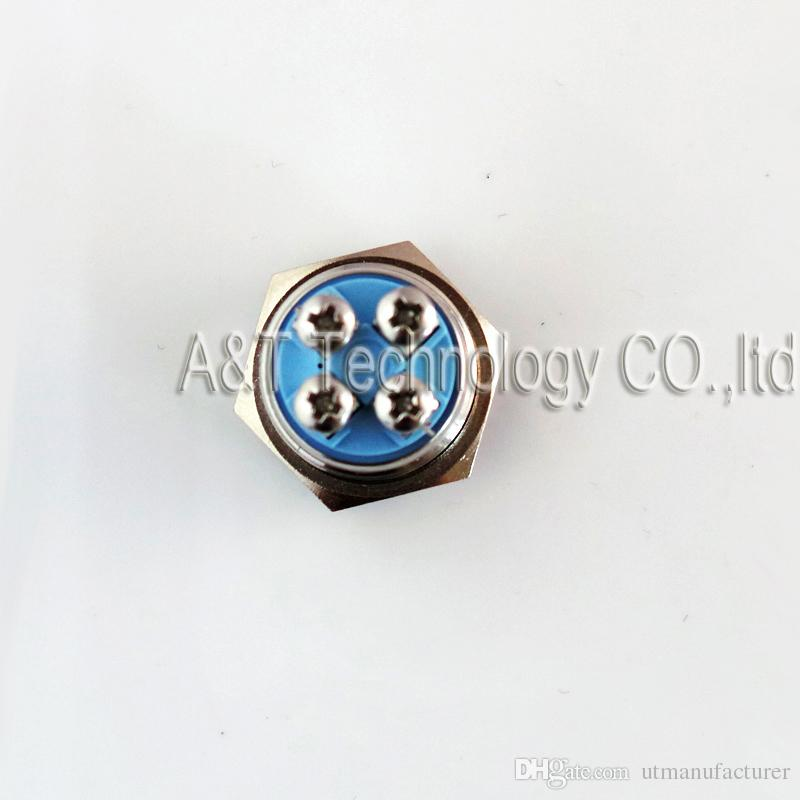 CMP 19mm Metal Anti vandal Waterproof Doorbell Push Button Screw Terminal 12v/24v/220v ac/dc Blue Led Angel eye Illuminated Car Power Switch