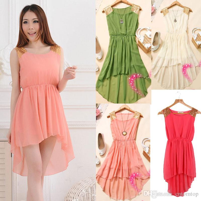 Asymmetrical Chiffon Dresses