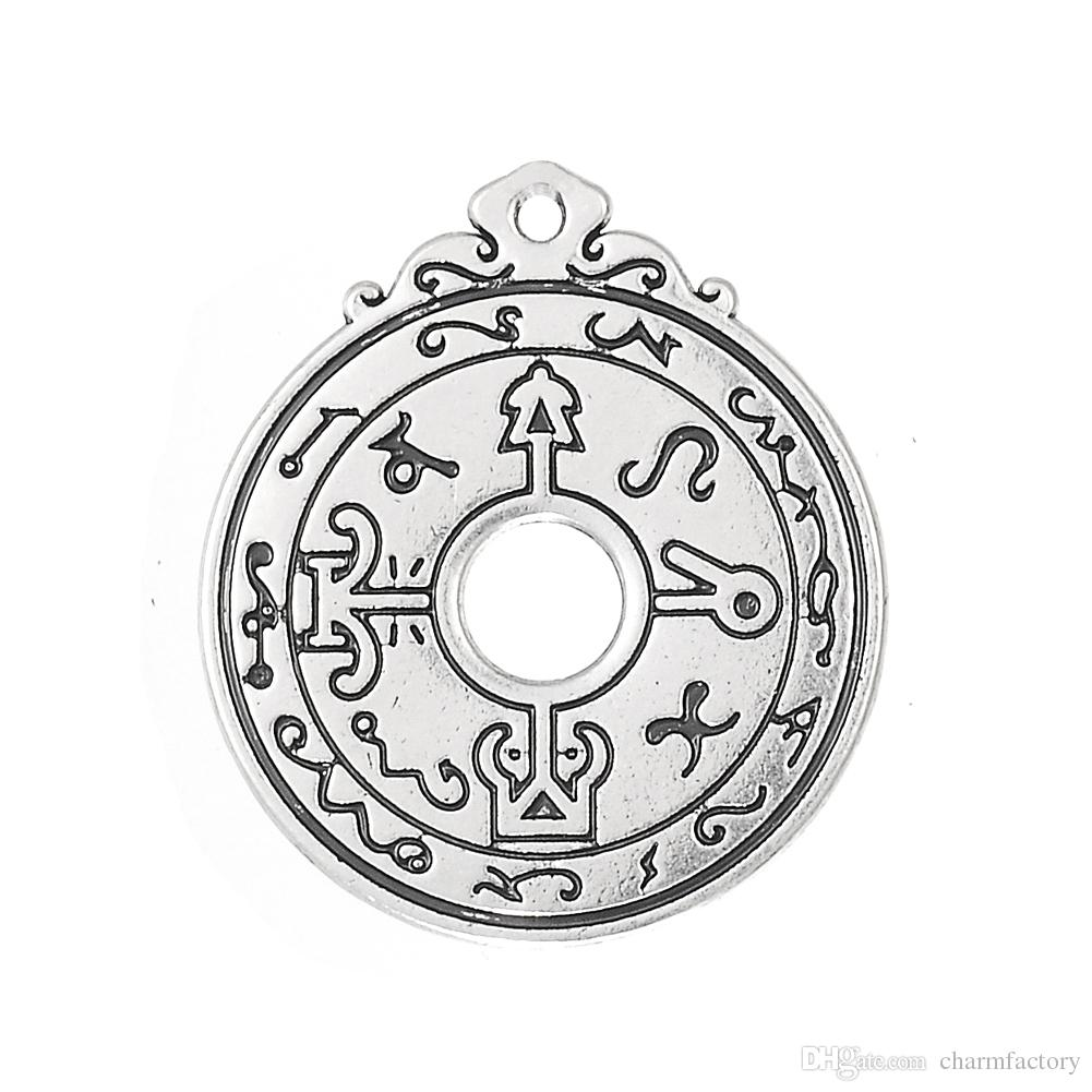 /lotZinc Alloy Metal Antique Silver Plated Religious Symbol Charms Wiccan Style for Jewelry Making