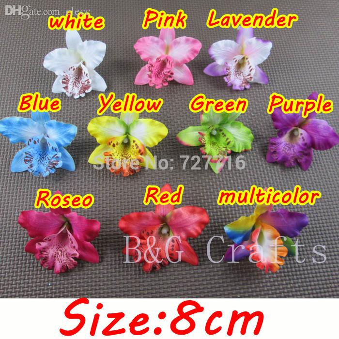 2018 wholesale mix silk thailand orchid flower head 8 cm 2018 wholesale mix silk thailand orchid flower head 8 cm artificial silk flowers phalaenopsis headwear without clip from elecc 2381 dhgate mightylinksfo