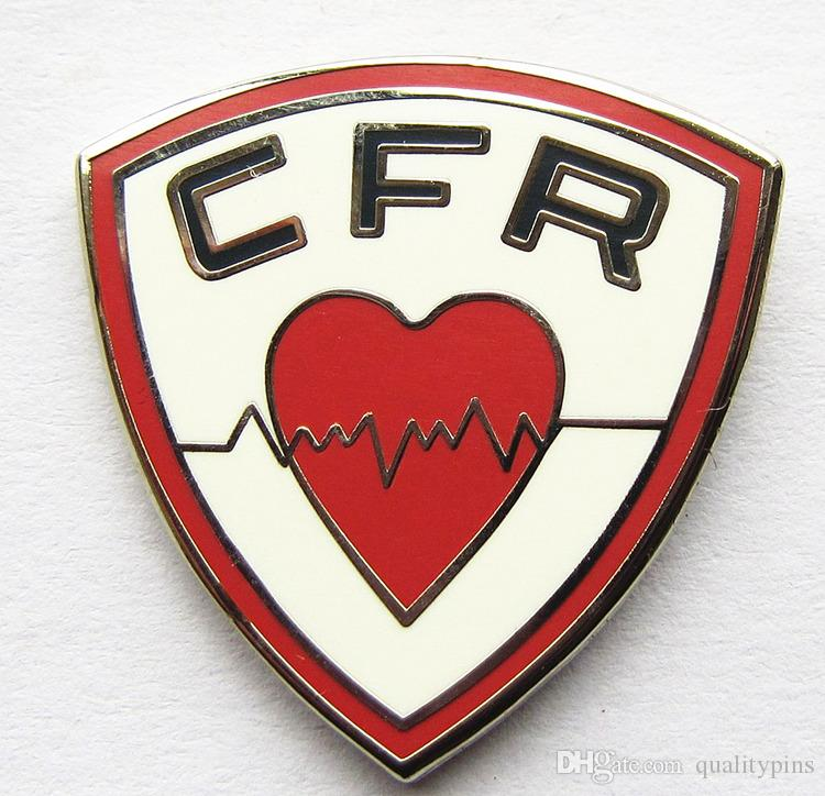 Black Nickle Plating Hard Enamel Pin With Letters CFR On It