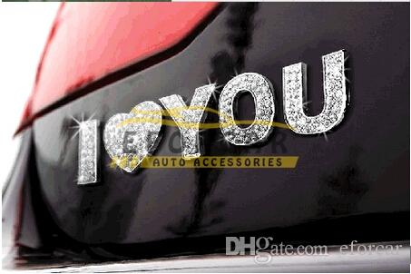 Crystal Letters Top Grade Car Auto 3D Emblem Badge Decals Chrome Stickers Hot Sale Good Quality