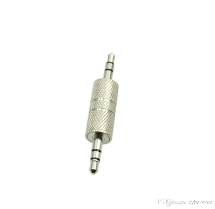 3,5 mm Klinke auf 3,5 mm AUX Audio Stecker auf Stecker Adapter Stecker. Silber Für Auto Handy Bluetooth Empfänger Handy Lautsprecher