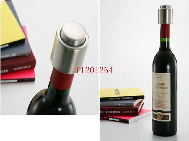 500 шт./лот Бесплатная доставка из нержавеющей стали вакуумной печати бутылки вина пробка красное вино бутылка консервант насос герметик бар пробка