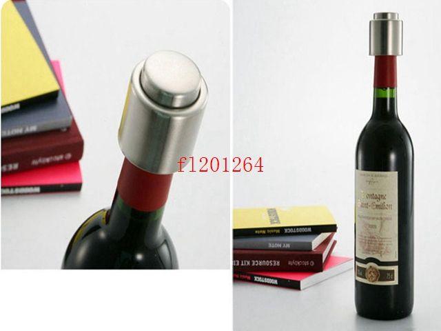 Fedex DHL Бесплатная доставка Оптовая нержавеющей стали вакуумной герметичной бутылки красного вина носик ликер потока пробка залить крышкой,100 шт./лот