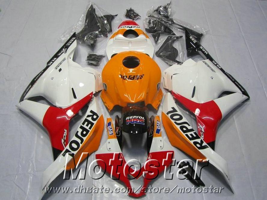 Injection molding ABS Fit for Honda CBR600RR fairing kit 2009 2010 2011 white red REPSOL fairings CBR 600RR 09 10 11 YR49