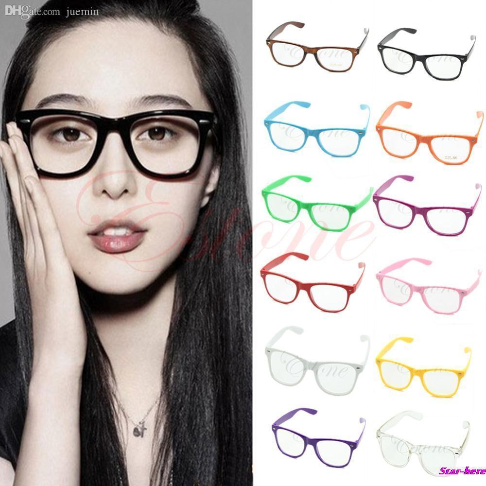 2ef11949c449 2019 Wholesale Fashion Glasses Cool Unisex Clear Lens Nerd Geek Glasses  Eyewear For Men Women From Juemin