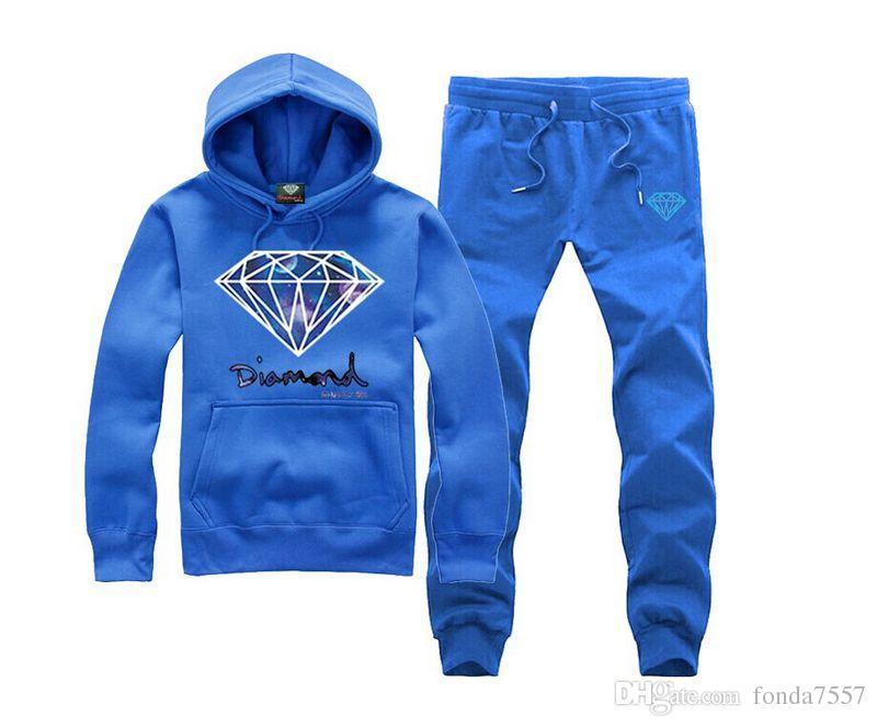 s-5xl Алмаз питания пот костюм Новое прибытие зима повседневная капюшоном спортивный костюм спортивный набор мужской зима толстые Slim Fit наборы