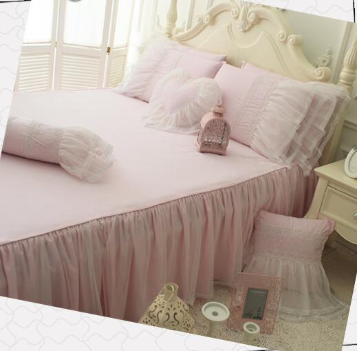 pastoral style breathable cotton lace bedding sets ,Lanny princess full king queen bedclothes cotton bedspread pillowcase duvet cover