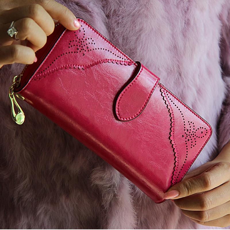 Royal Style Wallet For Women Purse Genuine Leather Women