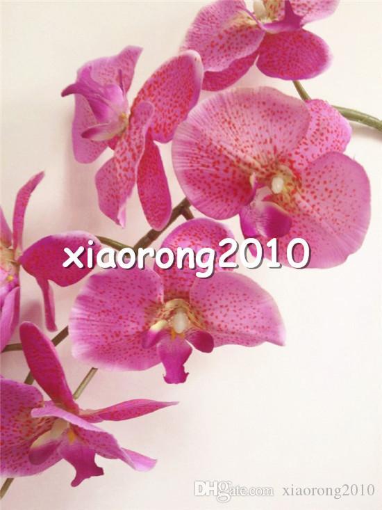 Шелковый Орхидея 10шт / много 100см / 39,37 и усилителей ; Quot; Длинные Phalaenopsis Бабочка Искусственные цветы леопардовым принтом Орхидеи для свадьбы декоративно