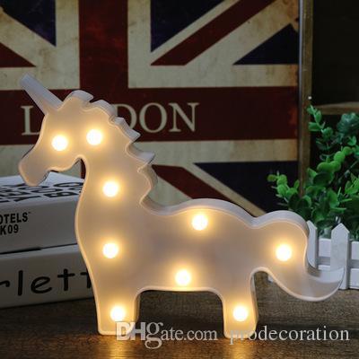 New Creative Light Led Night Lamp Flamingo / Unicorn / Cactus / Pineapple Lantern Wedding Party Decoration Decorações de Natal para casa