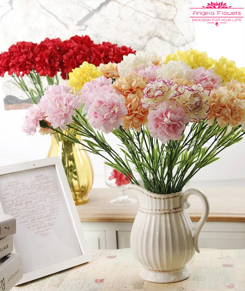 50cm Carntion Silk Decorative Artificial Flower For Mothers Day