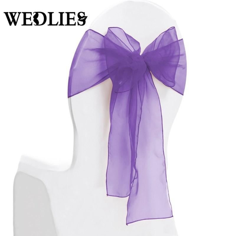 Compre organza chair sashes wedding decoration party cloth cover compre organza chair sashes wedding decoration party cloth cover table runner bands diy ribbon banquet diy 18 275cm de wuzhongtin 14151 ptdhgate junglespirit Gallery