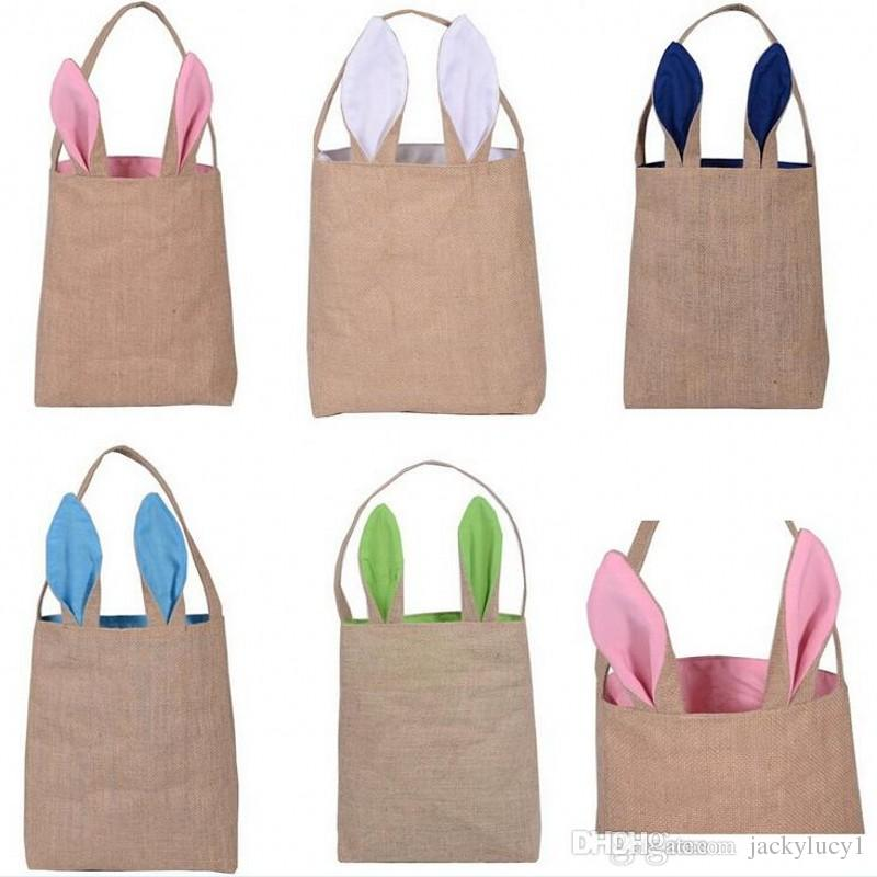 Wholesale fashion cotton and linen easter bunny ears basket bag wholesale fashion cotton and linen easter bunny ears basket bag easter gift packing handbag for kids fine festival gifts by jackylucy1 under 282 dhgate negle Choice Image
