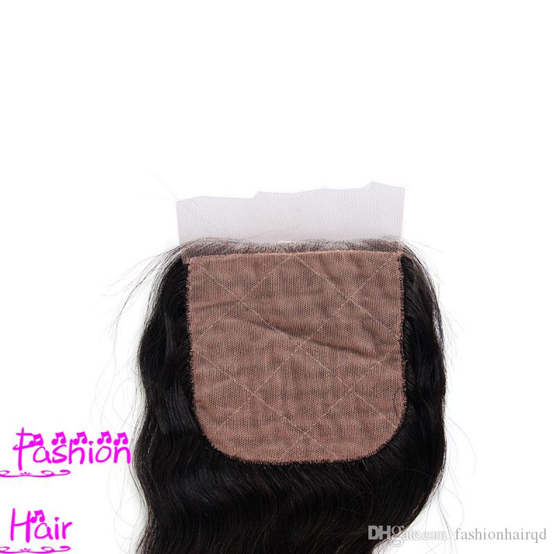 Brazilian Body Wave Silk Base Closure Hidden Knots 8A Grade Unprocessed Virgin Human Hair Silk Top Closure Free Part Natural Color Dyeable