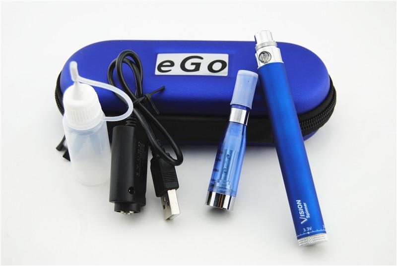 CE5 Vaporizer Atomizer Vision Spinner Zipper Kit Adjustable Voltage 650/900/1100/1300mah Vision Spinner CE5 Atomizer ecig ego Starter Kit