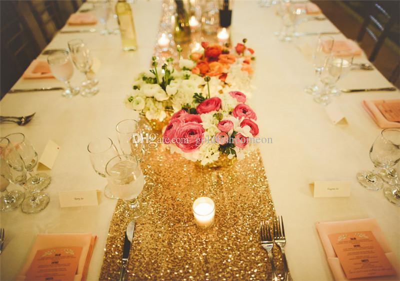 14 7235 180cm Gold Sequin Table Runners We Can Do Custom