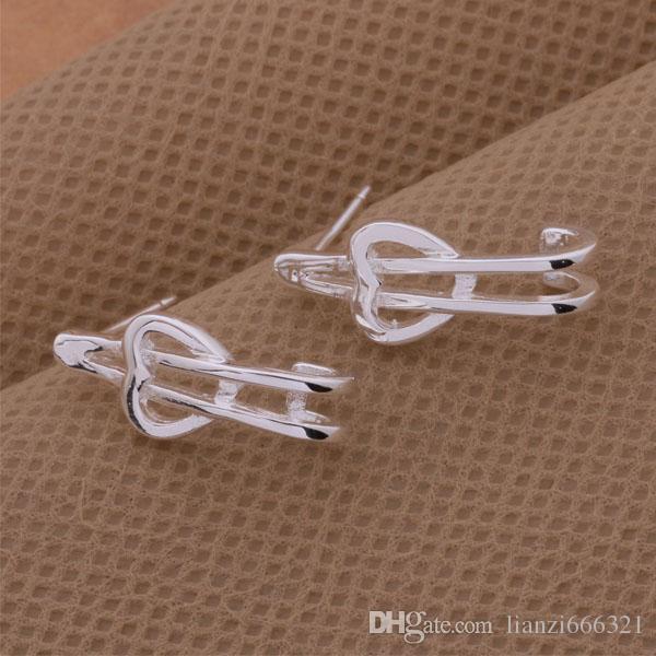 Mode bijoux Fabricant Boucles d'oreilles en pierre mandrin 925 usine bijoux en argent sterling Boucles d'oreilles Shine Fashion