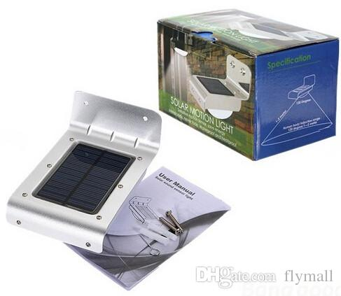 16 LEDs Sound Sensor / Body Motion Sensor Solar Power Light Outdoor Wall Lamps Sensor Light Waterproof Garden Courtyard Lamp Solar Light