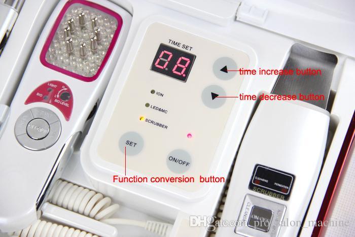 Pro 3in1 galvanische Ionen Hautpflege Mikroströmungshaut Wäscher LED Photon Haut Verjüngung Maschine Schönheitsgerät