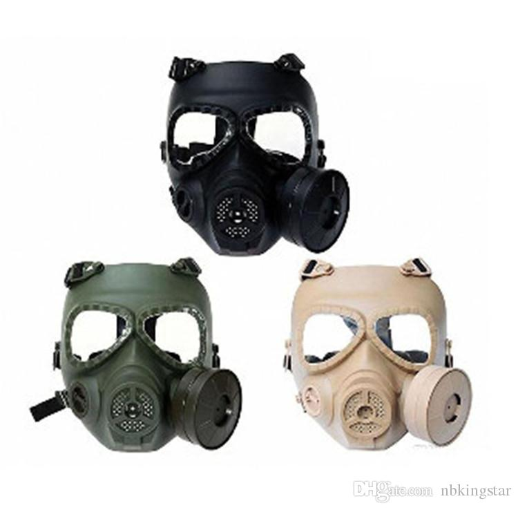 Paintball Accessories Tactical M04 Dummy Skull Full Face Gas Mask With Fan Military Airsoft Paintball Wargame Cosplay Protection Masks Od Outstanding Features Shooting