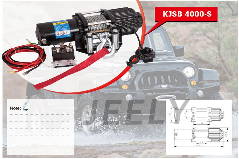 12V 4000LB ATV Electric Winch With Wireless Remote Control Kit free shipping