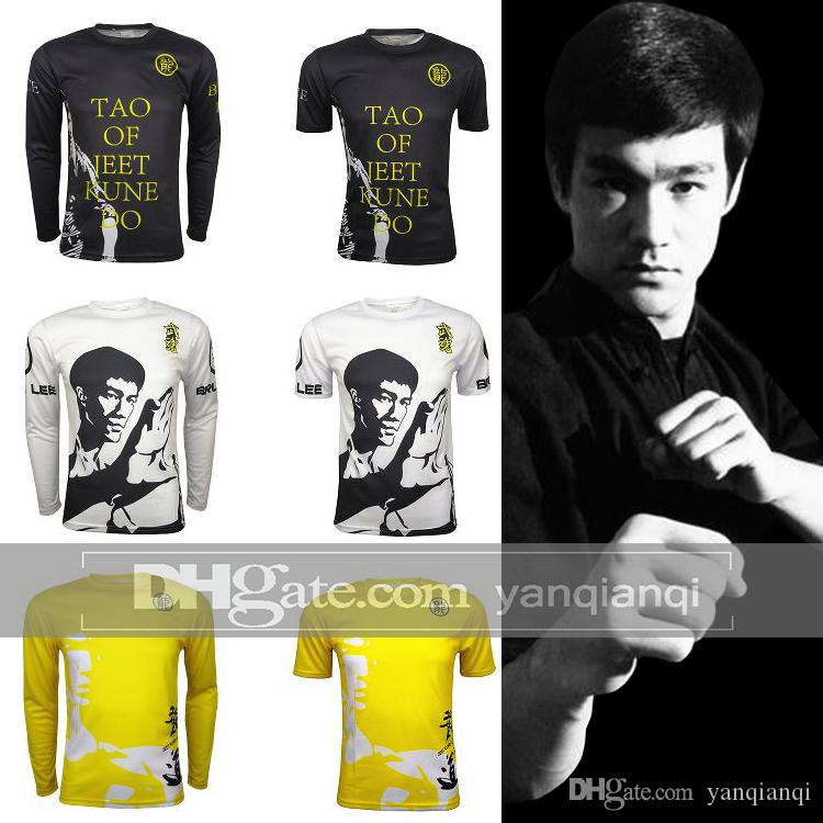 Bruce Lee T-Shirts, MMA-Strumpfhose Mesh-Belüftung Big Code Customized, Lange und kurze Ärmel, Girls'Tights-Digitaldruckkleidung