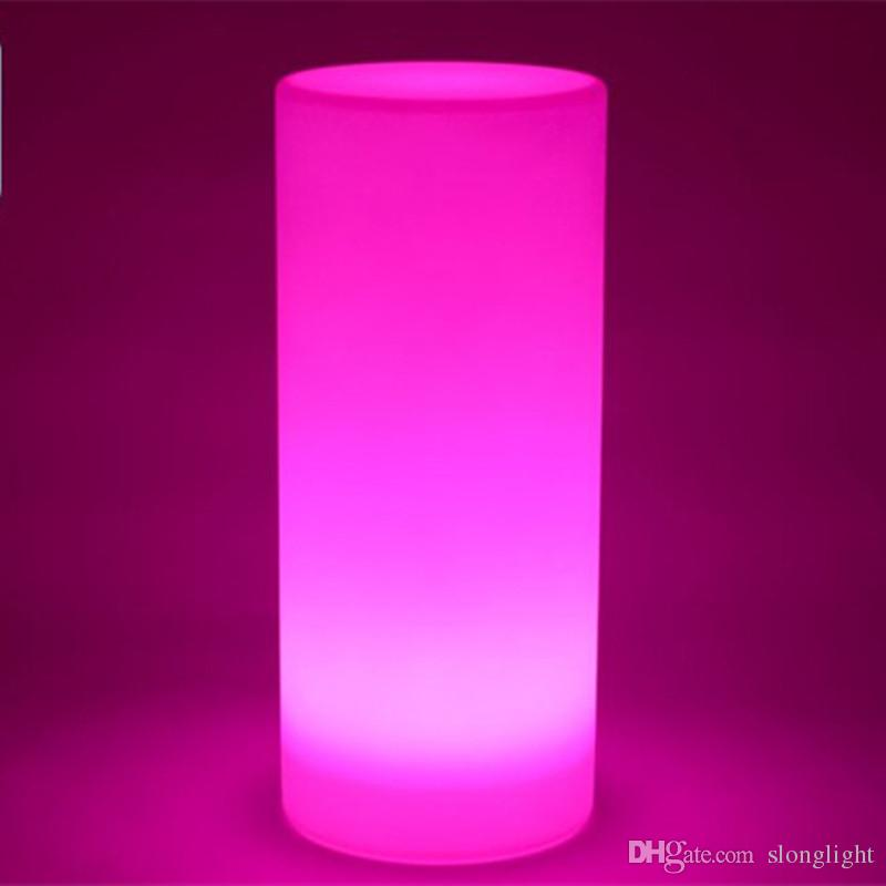 Waterproof multicolor Height 75 CM LED Large Tower Pillar Floor lamp  outdoor round S column lights of landscape lighting - 2017 Waterproof Multicolor Height 75 Cm Led Large Tower Pillar