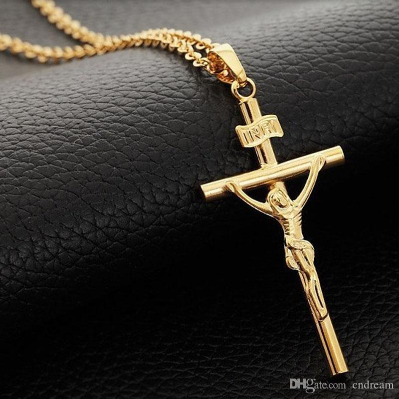 Jupiter ascending jesus cross necklace inri pendant for women men jupiter ascending jesus cross necklace inri pendant for women men 18k gold plated chain fashion jewelry drop shipping jesus cross pendant necklaces cross aloadofball Images