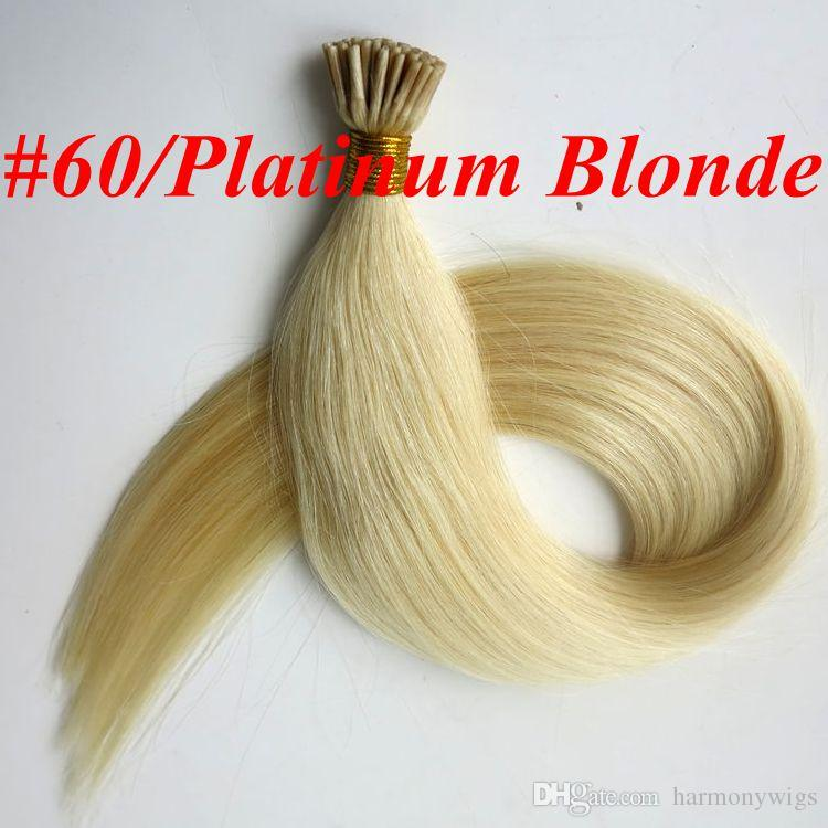 Pre bonded I Tip human Hair Extensions 50g 50Strands 18 20 22 24inch Straight Brazilian Indian Human hair