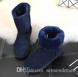 رخيصة في المخزون جودة عالية هدية عيد نصف الأحذية 11 لون الشتاء الثلوج الأحذية مثير wgg إمرأة حذاء الثلوج شتاء دافئ التمهيد القطن مبطن الأحذية