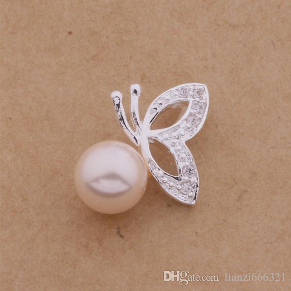 무료 배송 추적 번호와 함께 가장 인기있는 여성의 섬세한 선물 쥬얼리 판매 925 실버 진주 나비 목걸이