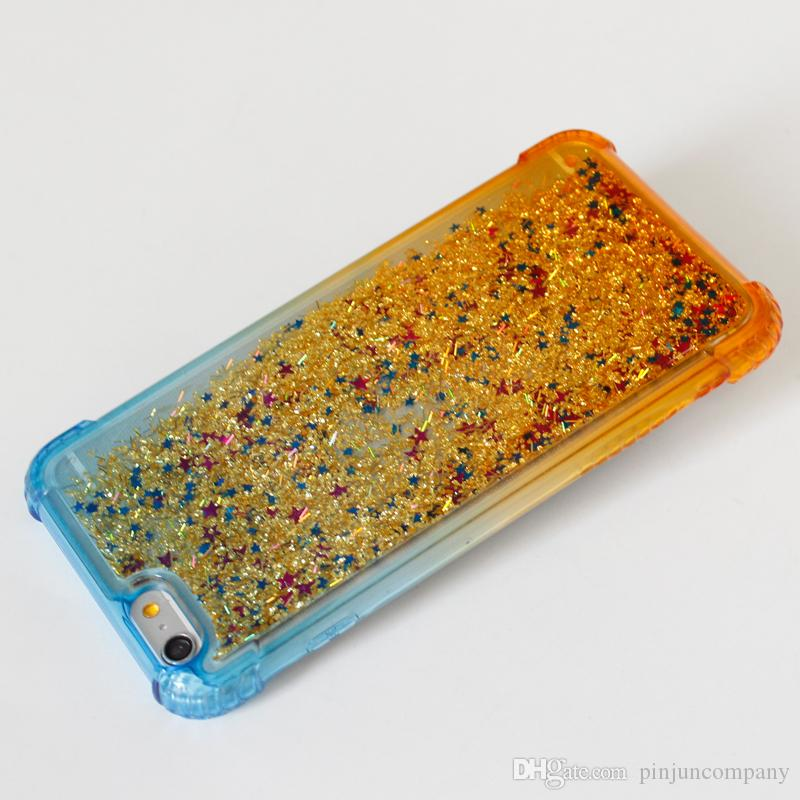 For iPhone x Case Dynamic Liquid Glitter Sands Sands Star Case For samsung galaxy NOTE 8 Dual Color Crystalline Cell Phone Back Cover