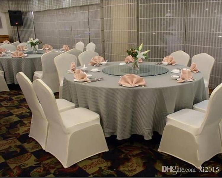 Frete Grátis Universal Branco Poliéster Spandex Capas de Cadeira de Casamento para Casamentos Banquete Dobrável Decoração Do Hotel Decoração
