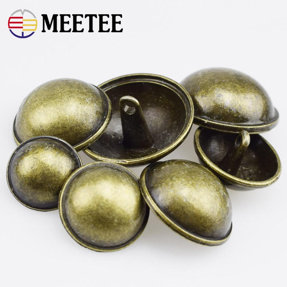 10Pcs High Quality Button Metal Coat Buttons British Crown Suit Jacket  Clasp Button Sewing Accessories
