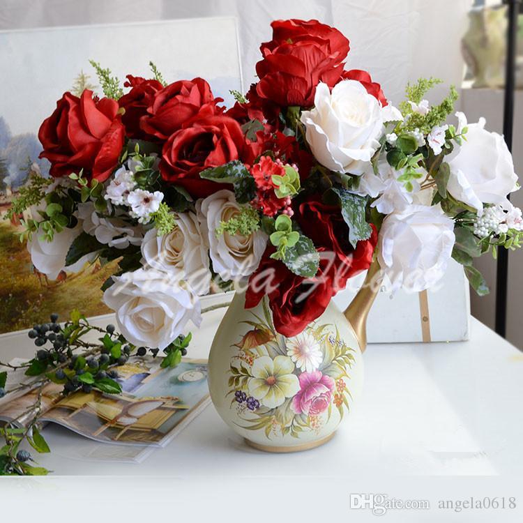 Grosshandel Heisser Verkauf 13 Kopfe Blumenstrauss Kunstliche Reale