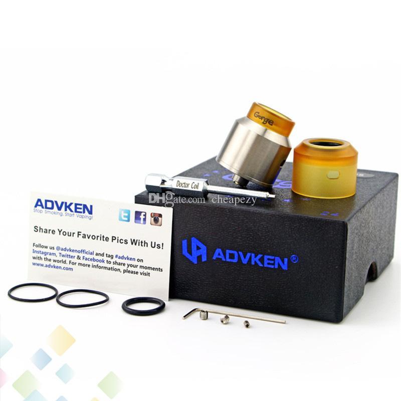Réservoir de cigarette électronique de vape de cigarette électronique Advken Gorge Rebuildable dégoulinant d'atomiseur fond remplissage remplissage Ecig DHL gratuit