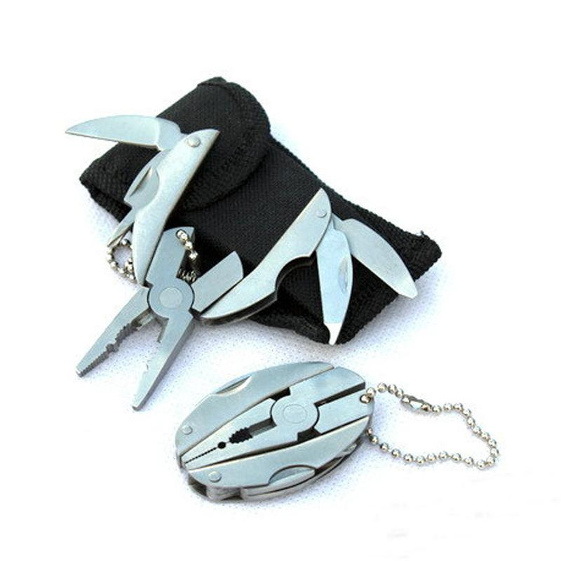 Многофункциональный плоскогубцы мини складной щипцы в том числе отвертка filer floding нож брелок открытый оборудование ручной инструмент 250020