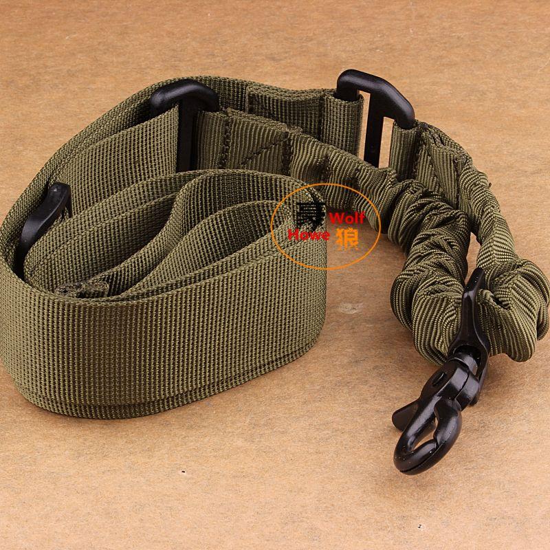 Taktisk gevärpistol 1 En enda punkt bungee sling system armé grön justerbar