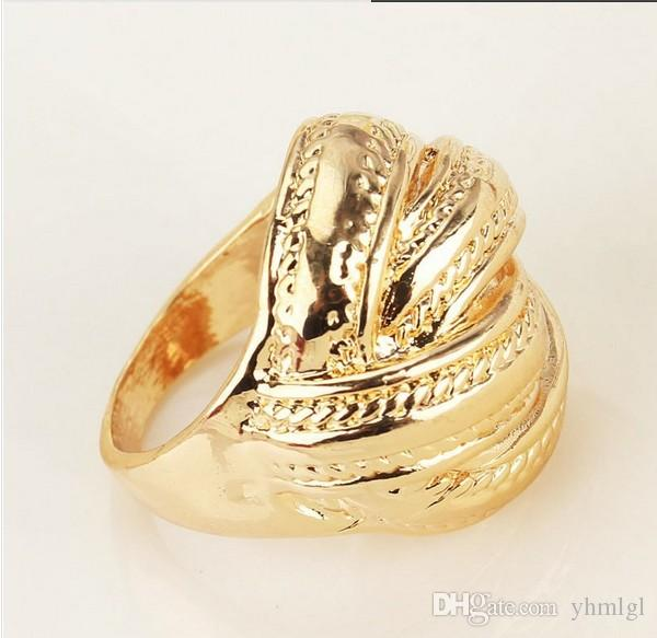 Fashion Women/Men 18k Gold Plated High Quality Chic The Ring Jewelry Wedding Rings Hot Sale