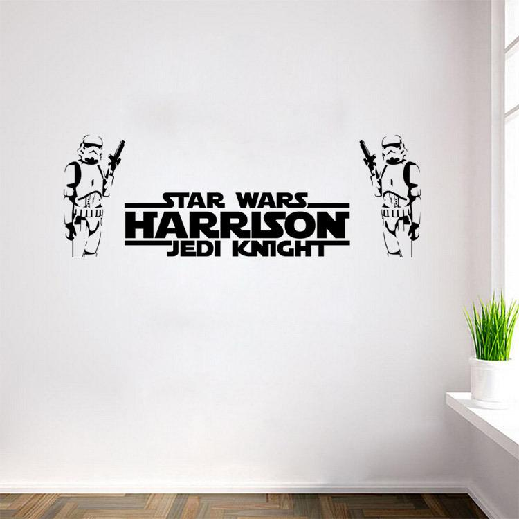 Star Wars Wall Stickers Two Stormtroopers With Letters Home Decor Diy  Creative Removable Bedroom Living Room Stickers Wallpaper Mural Tree  Sticker Wall Art ...