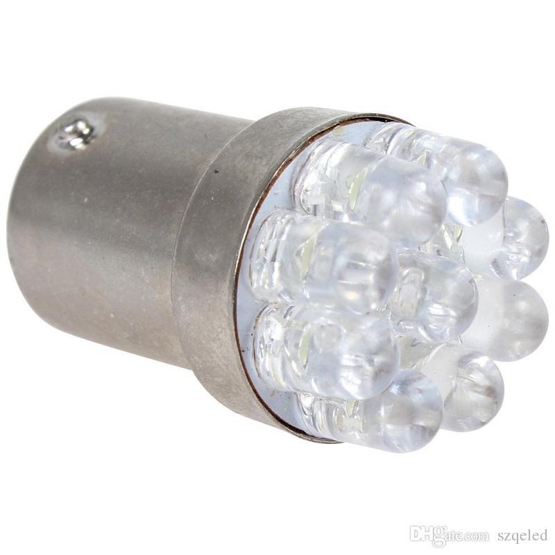 1156 BA15S 12V 0.3W White Light 9 LED Car Turn lamp / Signal / Tail / Brake Bulb CLT_022